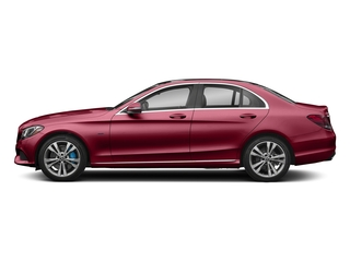 designo Cardinal Red Metallic 2017 Mercedes-Benz C-Class Pictures C-Class C 350e Sedan photos side view