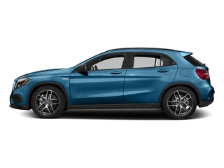 South Seas Blue Metallic 2017 Mercedes-Benz GLA Pictures GLA AMG GLA 45 4MATIC SUV photos side view