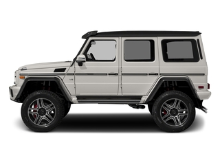 designo Mystic White Metallic 2017 Mercedes-Benz G-Class Pictures G-Class G 550 4x4 Squared SUV photos side view