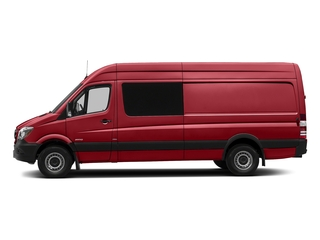 Flame Red 2017 Mercedes-Benz Sprinter Crew Van Pictures Sprinter Crew Van 2500 High Roof I4 170 RWD photos side view
