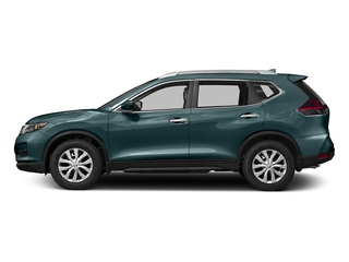 Caspian Blue 2017 Nissan Rogue Pictures Rogue Utility 4D S 2WD I4 photos side view