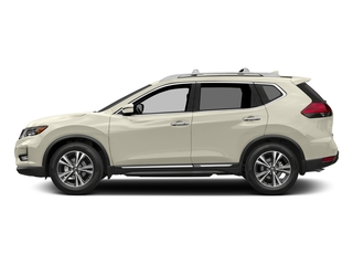 Pearl White 2017 Nissan Rogue Pictures Rogue Utility 4D SL AWD I4 photos side view