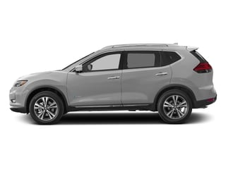 Brilliant Silver 2017 Nissan Rogue Pictures Rogue Utility 4D SL 2WD I4 Hybrid photos side view