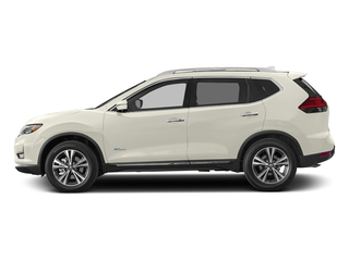 Glacier White 2017 Nissan Rogue Pictures Rogue Utility 4D SV AWD I4 Hybrid photos side view