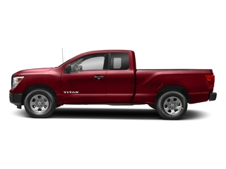 Cayenne Red 2017 Nissan Titan Pictures Titan King Cab S 4WD photos side view