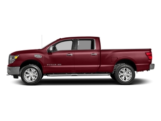 Cayenne Red 2017 Nissan Titan XD Pictures Titan XD Crew Cab SL 2WD photos side view