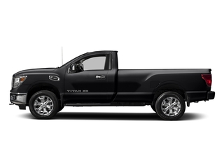 Magnetic Black 2017 Nissan Titan XD Pictures Titan XD Regular Cab SV 2WD photos side view