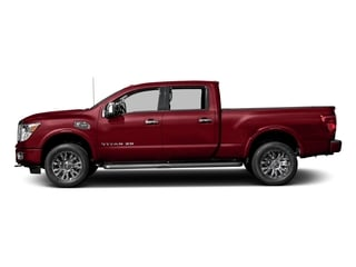 Cayenne Red 2017 Nissan Titan XD Pictures Titan XD Crew Cab Platinum Reserve 4WD photos side view