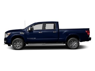 Deep Blue Pearl 2017 Nissan Titan XD Pictures Titan XD Crew Cab Platinum Reserve 4WD photos side view