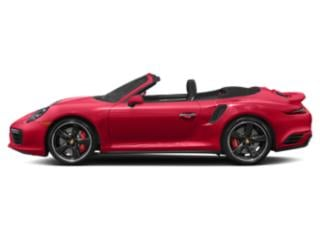 Guards Red 2017 Porsche 911 Pictures 911 Cabriolet 2D Turbo S AWD H6 photos side view
