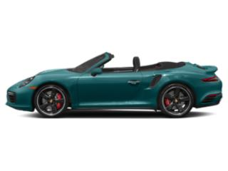 Miami Blue 2017 Porsche 911 Pictures 911 Cabriolet 2D Turbo S AWD H6 photos side view