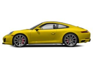 Racing Yellow 2017 Porsche 911 Pictures 911 Coupe 2D 4S AWD H6 Turbo photos side view