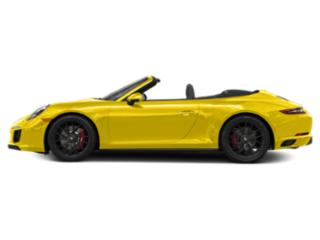 Racing Yellow 2017 Porsche 911 Pictures 911 Cabriolet 2D GTS H6 photos side view