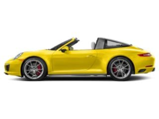 Racing Yellow 2017 Porsche 911 Pictures 911 Coupe 2D 4S Targa AWD H6 Turbo photos side view