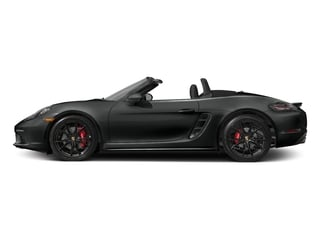 Jet Black Metallic 2017 Porsche 718 Boxster Pictures 718 Boxster Roadster 2D S H4 Turbo photos side view