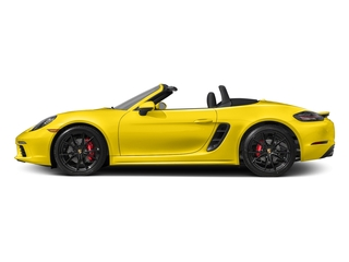 Racing Yellow 2017 Porsche 718 Boxster Pictures 718 Boxster Roadster 2D S H4 Turbo photos side view