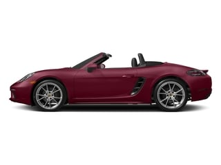Carmine Red 2017 Porsche 718 Boxster Pictures 718 Boxster Roadster 2D H4 Turbo photos side view
