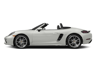 White 2017 Porsche 718 Boxster Pictures 718 Boxster Roadster 2D H4 Turbo photos side view