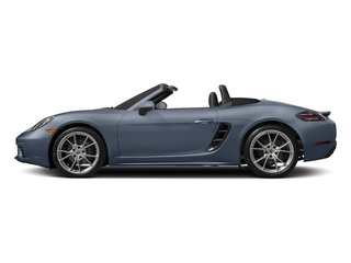 Graphite Blue Metallic 2017 Porsche 718 Boxster Pictures 718 Boxster Roadster 2D H4 Turbo photos side view