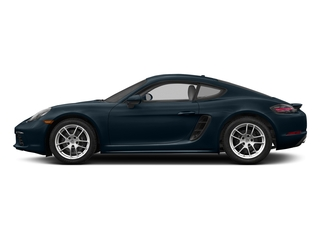 Night Blue Metallic 2017 Porsche 718 Cayman Pictures 718 Cayman Coupe 2D H4 Turbo photos side view