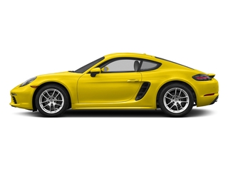 Racing Yellow 2017 Porsche 718 Cayman Pictures 718 Cayman Coupe 2D H4 Turbo photos side view