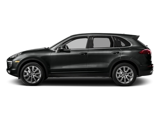 Jet Black Metallic 2017 Porsche Cayenne Pictures Cayenne Utility 4D S AWD V6 Turbo photos side view