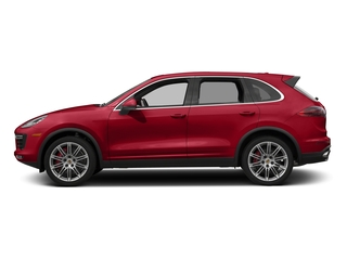 Carmine Red 2017 Porsche Cayenne Pictures Cayenne Utility 4D AWD V8 Turbo photos side view