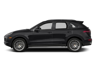 Black 2017 Porsche Cayenne Pictures Cayenne Utility 4D Platinum AWD V6 photos side view