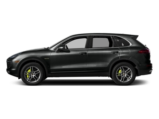 Jet Black Metallic 2017 Porsche Cayenne Pictures Cayenne Utility 4D S V6 e-Hybrid AWD photos side view
