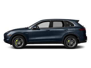 Moonlight Blue Metallic 2017 Porsche Cayenne Pictures Cayenne Utility 4D S V6 e-Hybrid AWD photos side view
