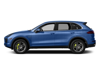 Sapphire Blue Metallic 2017 Porsche Cayenne Pictures Cayenne Utility 4D S V6 e-Hybrid AWD photos side view