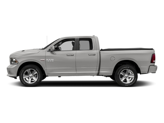 Bright Silver Metallic Clearcoat 2017 Ram Truck 1500 Pictures 1500 Night 4x4 Quad Cab 6'4 Box photos side view