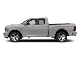 Bright Silver Metallic Clearcoat 2017 Ram Truck 1500 Pictures 1500 Night 4x2 Quad Cab 6'4 Box photos side view