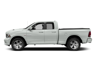Bright White Clearcoat 2017 Ram Truck 1500 Pictures 1500 Night 4x2 Quad Cab 6'4 Box photos side view