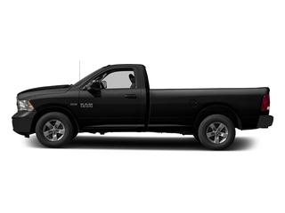 Black Clearcoat 2017 Ram Truck 1500 Pictures 1500 Lone Star 4x2 Regular Cab 6'4 Box photos side view