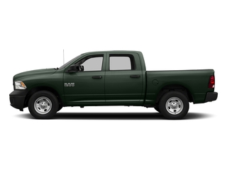 Black Forest Green Pearlcoat 2017 Ram Truck 1500 Pictures 1500 Tradesman 4x4 Crew Cab 5'7 Box photos side view