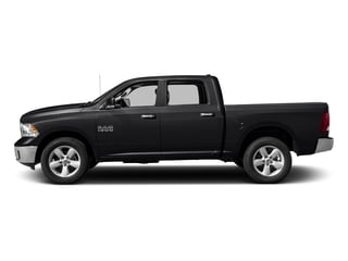 Black Clearcoat 2017 Ram Truck 1500 Pictures 1500 Big Horn 4x2 Crew Cab 6'4 Box photos side view