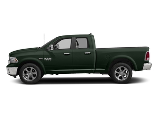 Black Forest Green Pearlcoat 2017 Ram Truck 1500 Pictures 1500 Laramie 4x4 Quad Cab 6'4 Box photos side view