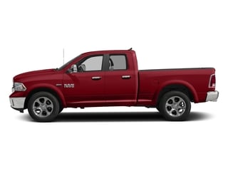 Flame Red Clearcoat 2017 Ram Truck 1500 Pictures 1500 Laramie 4x4 Quad Cab 6'4 Box photos side view