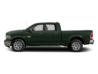 Black Forest Green Pearlcoat 2017 Ram Truck 1500 Pictures 1500 Longhorn 4x4 Crew Cab 6'4 Box photos side view