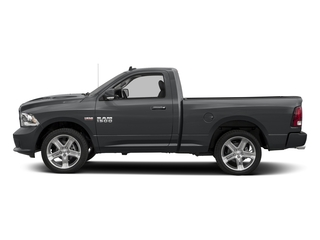 Granite Crystal Metallic Clearcoat 2017 Ram Truck 1500 Pictures 1500 Night 4x4 Regular Cab 6'4 Box photos side view