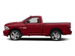Flame Red Clearcoat 2017 Ram Truck 1500 Pictures 1500 Night 4x4 Regular Cab 6'4 Box photos side view
