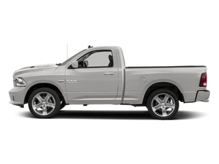 Bright Silver Metallic Clearcoat 2017 Ram Truck 1500 Pictures 1500 Night 4x4 Regular Cab 6'4 Box photos side view