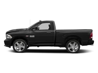 Brilliant Black Crystal Pearlcoat 2017 Ram Truck 1500 Pictures 1500 Night 4x4 Regular Cab 6'4 Box photos side view