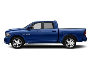 Blue Streak Pearlcoat 2017 Ram Truck 1500 Pictures 1500 Night 4x2 Crew Cab 5'7 Box photos side view