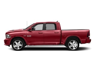 Flame Red Clearcoat 2017 Ram Truck 1500 Pictures 1500 Night 4x4 Crew Cab 5'7 Box photos side view