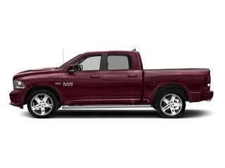 Delmonico Red Pearlcoat 2017 Ram Truck 1500 Pictures 1500 Night 4x2 Crew Cab 5'7 Box photos side view