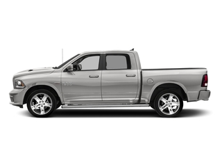 Bright Silver Metallic Clearcoat 2017 Ram Truck 1500 Pictures 1500 Night 4x4 Crew Cab 5'7 Box photos side view