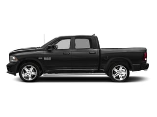 Brilliant Black Crystal Pearlcoat 2017 Ram Truck 1500 Pictures 1500 Night 4x4 Crew Cab 5'7 Box photos side view