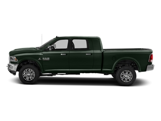 Black Forest Green Pearlcoat 2017 Ram Truck 2500 Pictures 2500 Mega Cab Laramie 4WD photos side view